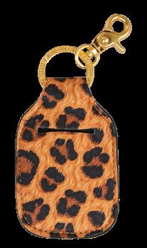 Hand Sanitizer Holder Keychain - Leopard