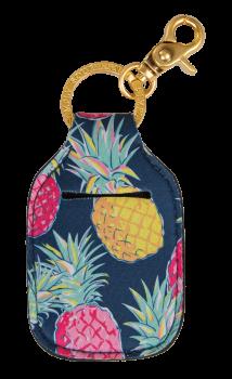 Hand Sanitizer Holder Keychain - Pineapple