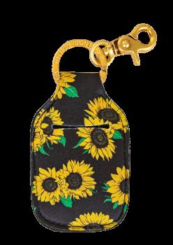 Hand Sanitizer Holder Keychain - Sunflower
