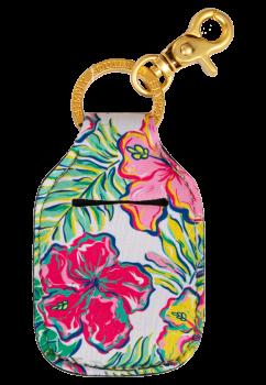 Hand Sanitizer Holder Keychain - Tropic