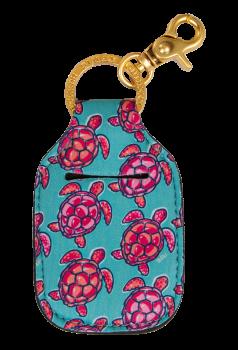 Hand Sanitizer Holder Keychain - Turtle