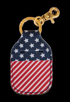 Hand Sanitizer Holder Keychain - USA