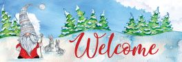 Winter Gnome Signature Sign