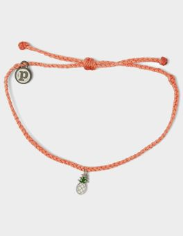 Puravida Salmon Pineapple Bracelet