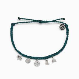 Puravida Teal Happy Camper Bracelet