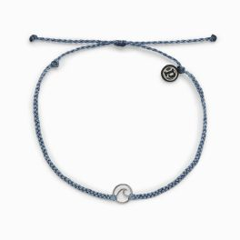 Puravida Blue Steel Mini Wave Anklet