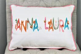 Woodland Girl Name Pillow