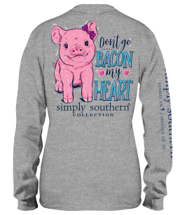 Simply Southern Bacon Long Sleeve T-Shirt - YOUTH