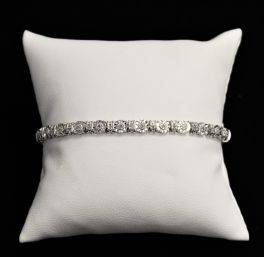 Sterling Silver Diamond Tennis Bracelet - .30CT