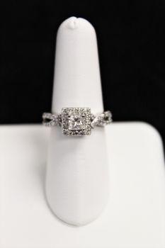 Ladies 14K White Gold Diamond Engagement Ring - .95CT