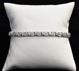 Sterling Silver Diamond Tennis Bracelet - .30CTTW