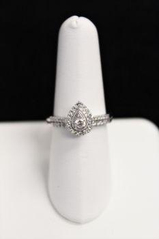 10K White Gold Diamond Engagement Set - .34CT