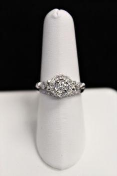 10K White Gold Diamond Wedding Set - .33CT