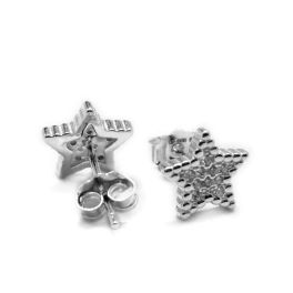 Sterling Silver CZ Star Earrings