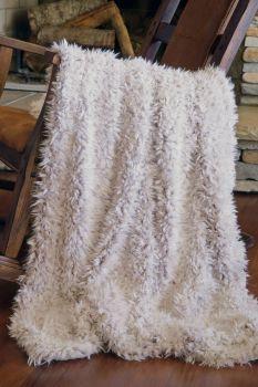 Shaggy Faux Fur Throw Blanket