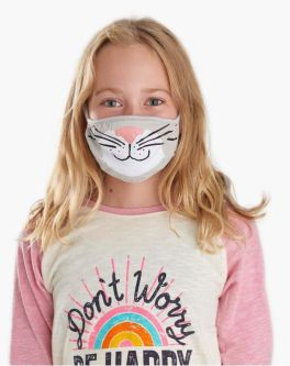 Youth Face Mask - Grey Cat