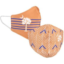 Palmetto Moon Purple & Orange Reversible Face Mask