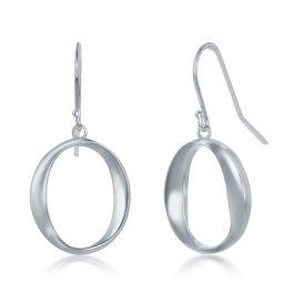 Sterling Silver 'O' Dangling Earrings