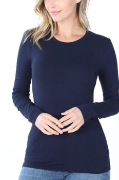 Layer Me Up Basic Top - Navy