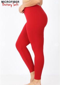 On The Run Plus Leggings - Dark Red