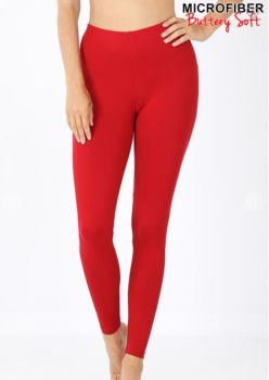 On The Run Leggings - Dark Red