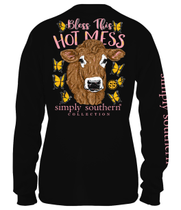 Simply Southern Hot Mess Long Sleeve T-Shirt - YOUTH