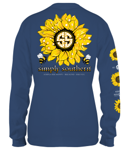Simply Southern Sunflower Long Sleeve T-Shirt - YOUTH