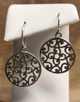 Southern Gates Flower & Scroll Dangle Earrings