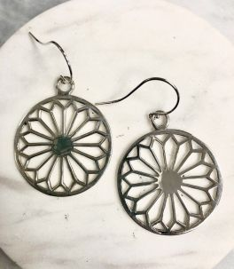 Southern Gates Large Cathedral Scroll Dangle Earrings