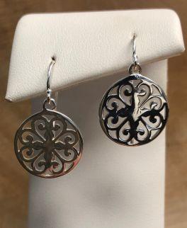 Southern Gates Heart Scroll Dangle Earrings