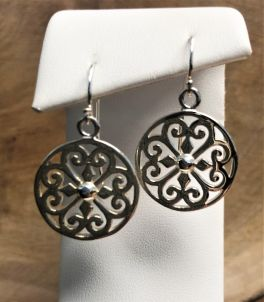 Southern Gates Round Heart Scroll Earrings