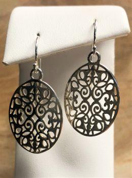 Southern Gates Oval Scroll Dangle Earrings