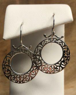 Southern Gates Open Center Filigree Dangle Earrings