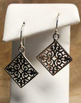 Southern Gates Diamond Scroll Dangle Earrings