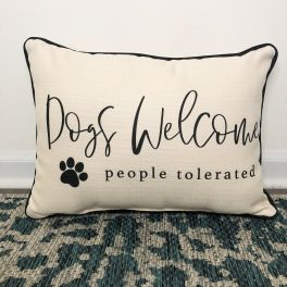 Dogs Welcome Pillow