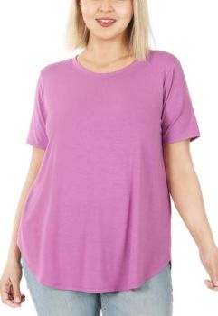 Easy As It Seems Plus Tee - Mauve