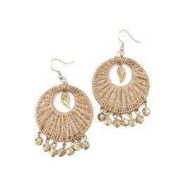 Sachi Bohemian Neutrals Collection Earrings - Jute Weave