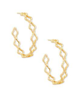 Kendra Scott Abbie Hoop Earrings In Gold