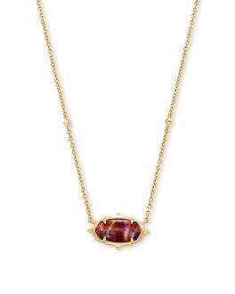 Kendra Scott Baroque Elisa Gold Pendant Necklace In Mauve Abalone