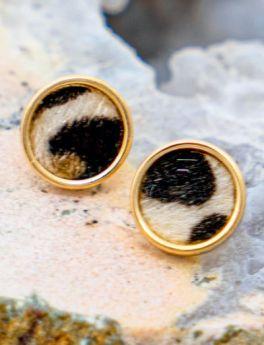 Little Leopard Earrings - Cream