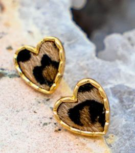 Stole Your Heart Earrings - Brown
