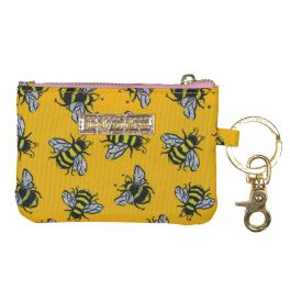 Simply Southern ID Coin Purse Keychain - Bee