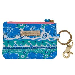 Simply Southern ID coin Purse Keychain - Hibiscus