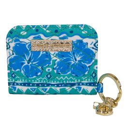 Simply Southern ID Wallet Keychain - Hibiscus