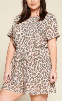I'm The One Plus Romper - Leopard