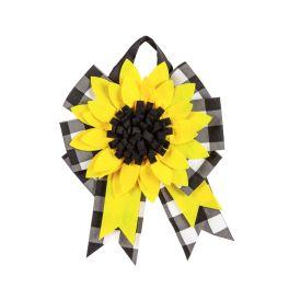 Sunflower Door Tag Bow