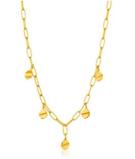Ania Haie Crush Drop Discs Necklace - Gold Plated