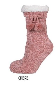Simply Southern Chenille Camper Socks - Crepe