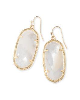 Kendra Scott Elle Gold Drop Earrings In Ivory Mother of Pearl