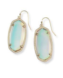 Kendra Scott Elle Gold Drop Earrings in Dichroic Glass